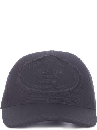 Prada Logo Patched Baseball Cap