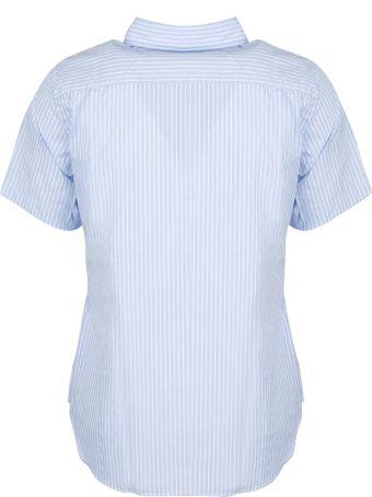 Comme des Garçons Play Black Heartlogo Patch Striped Shirt