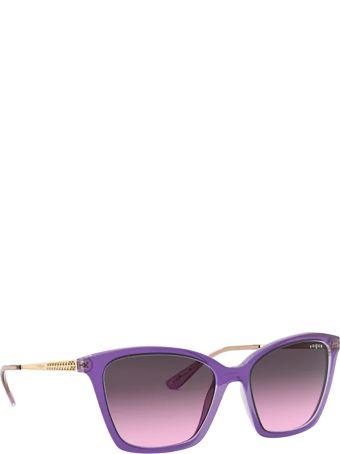 Vogue Eyewear Vogue Vo5333s Top Violet On Transparent Grey Sunglasses
