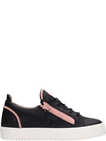Giuseppe Zanotti Black Leather Gail Sneakers