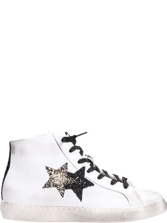 2Star High Star Sneakers In White Leather