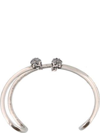 Alexander McQueen Double Thin Skull Bracelet