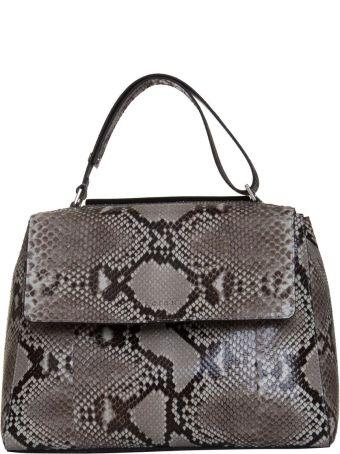 Orciani Medium Sveva Shoulder Bag In Python