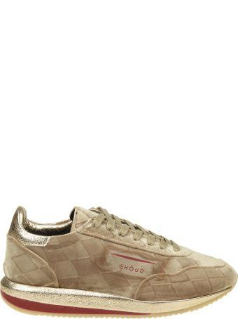 GHOUD Sneakers In Suede Beige Color