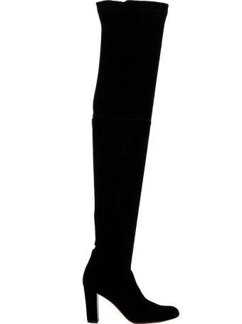Christian Louboutin Black Velvet Boots
