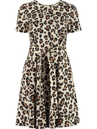 Jucca Leopard Print Cotton Dress