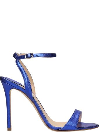 The Seller Blue Laminated Leather Sandals