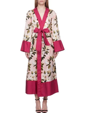 For Restless Sleepers F.r.s For Restless Sleepers Floral Print Robe Coat