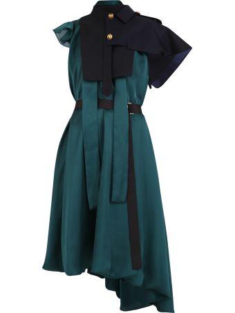 Sacai Satin And Cotton Dress