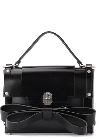 Niels Peeraer Ribbon Black Leather Backpack