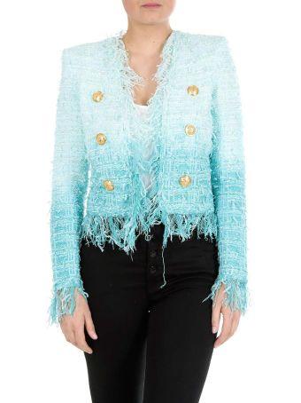 Balmain Tweed Button Blazer