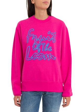 Cedric Charlier 'fruit Of The Loom' Print Sweatshirt