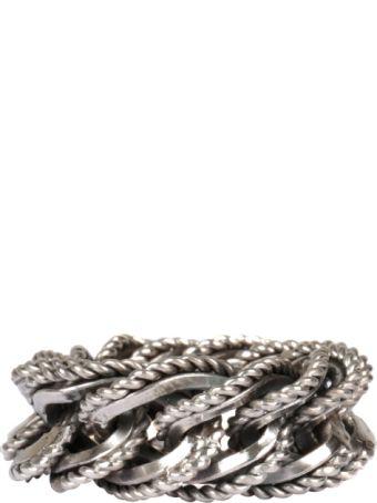 Ugo Cacciatori Fine Chain Cable Silver Ring