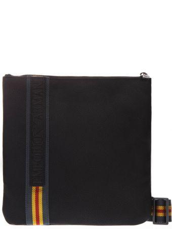 Emporio Armani Black Contrasting Shoulder Strap Pouch