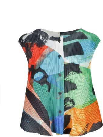 Pleats Please Issey Miyake Pleats Please By Issey Miyake Color-block Top