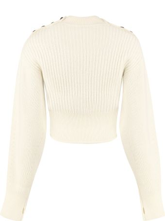 self-portrait Cut-out Details Ribbed Pullover