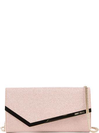 Jimmy Choo Fine Glitter Fabric Clutch