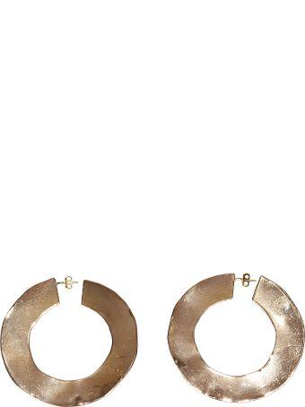 Erika Cavallini Flat Hoop Earrings