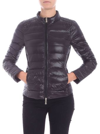 Patrizia Pepe Black Nylon Down Jacket