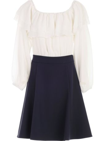 Blugirl Ruffled Bicolor Dress
