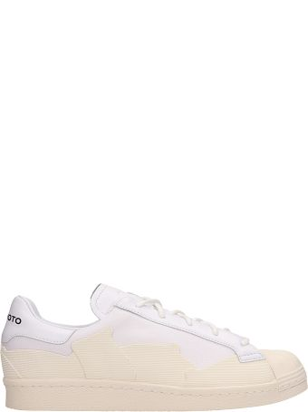 Y-3 Super Takusan White Leather Sneakers