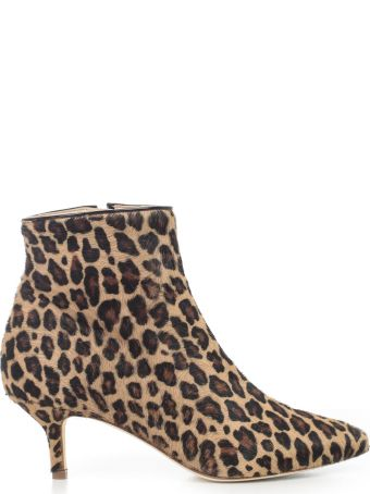 Polly Plume Leopard Print Ankle Boots