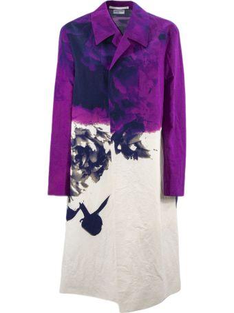 Dries Van Noten Cotton And Linen Blend Overcoat