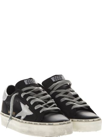 Golden Goose Hi Star Black Leather Sneakers