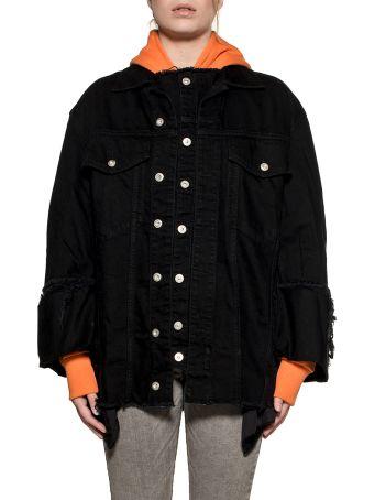 Diesel Black De-visemac Oversize Denim Jacket
