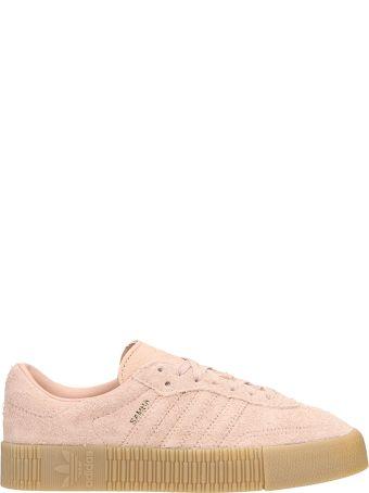 Adidas Sambarose Pink Suede Sneakers