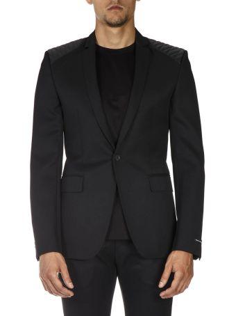 Les Hommes Black Classic Wool Jacket