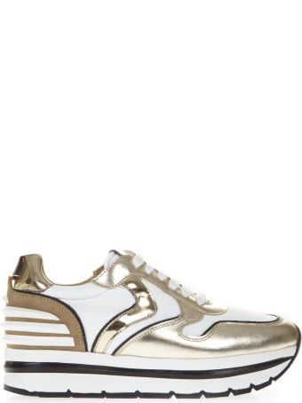 Voile Blanche Gold May Power Leather & Textile Sneaker