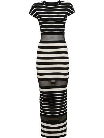 Off-White Striped Dress
