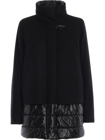 Fay Wool And Cashmere Coat With Nylon Inserts