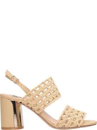 Bibi Lou Taupe Canvas Sandals