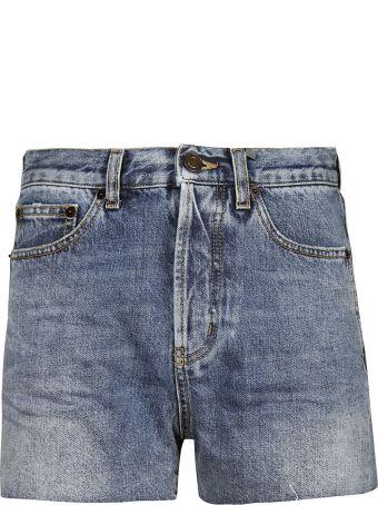 Saint Laurent Embroidered Pocket Shorts