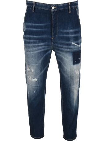 Dsquared2 D Squared Distressed Details Cropped Jeans