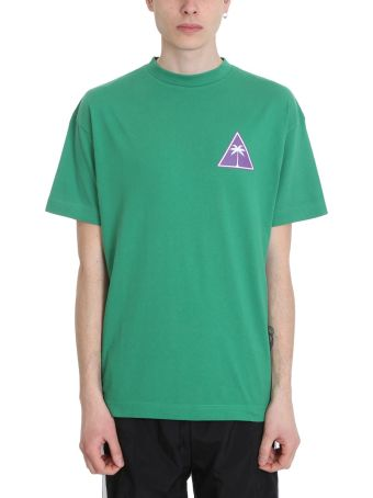 Palm Angels Palm Icon Green Cotton T-shirt