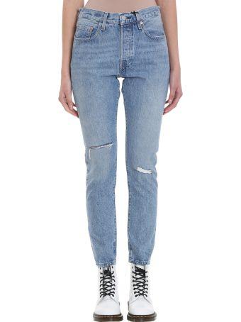 Levi's 501 Skinny Blue Jeans