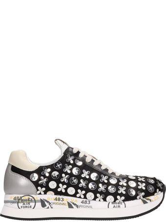 Premiata Black Canvas Conny Sneakers