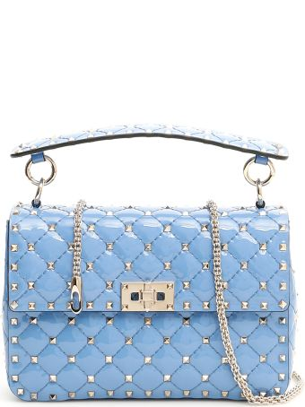 Valentino Patent Medium Rockstud Spike Bag