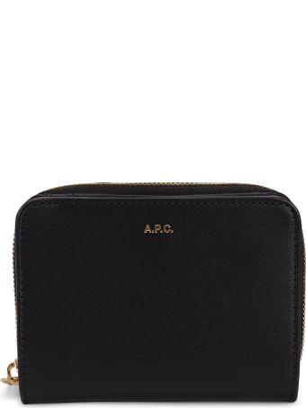 A.P.C. Black Emmanuelle Wallet