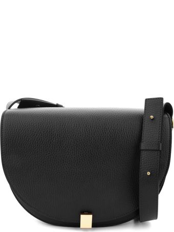 Victoria Beckham Half Moon Box Pebbled-leather Shoulder Bag