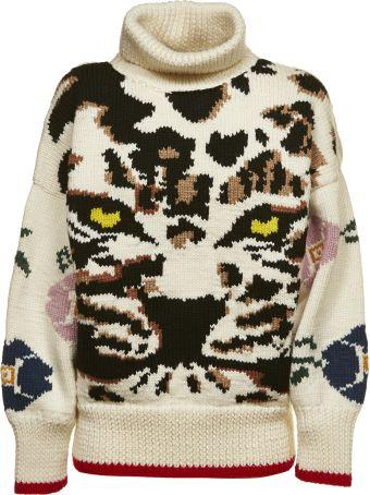 Sonia by Sonia Rykiel Tiger Knit Jumper