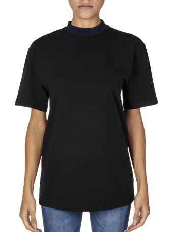 Acne Studios Black Cotton T-shirt With Logo