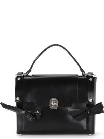 Niels Peeraer Modello Bow Black Leather Bag
