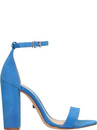 Schutz Blue Suede Leather Sandals