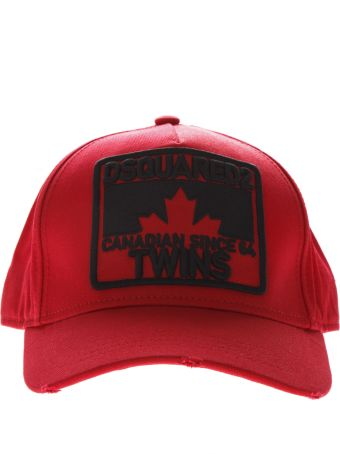 Dsquared2 Twins Red Cotton Hat