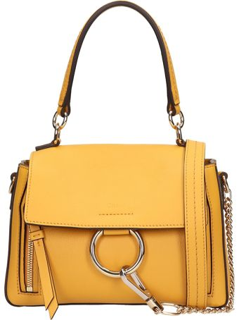 Chloé Mustard Leather Mini Faye Bag