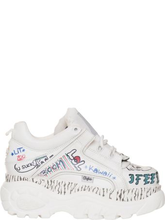 Buffalo Sneakers Graffiti In White